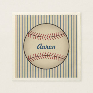 Personalized Baseball Sports Party Napkins Paper Napkins