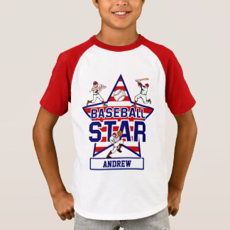 Personalized Baseball Star and stripes T-Shirt