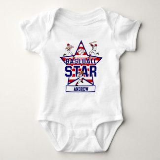 Personalized Baseball Star and stripes Tshirt