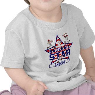 Personalized Baseball Star and stripes Tshirts