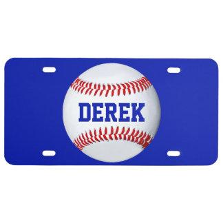 Personalized Baseball Theme License Plate