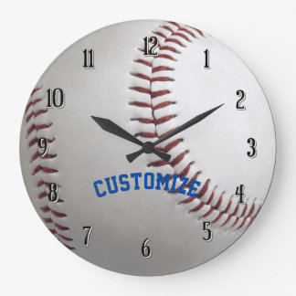 Personalized Baseball Wall Clock