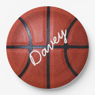 Personalized Basketball 9 Inch Paper Plate