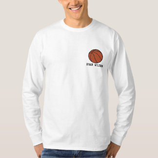 Personalized Basketball  Ball embroidered Shirt
