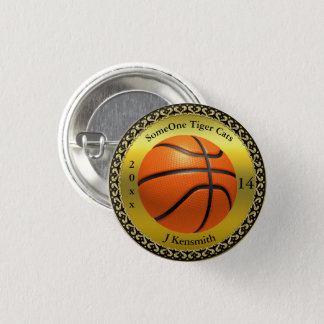 Personalized Basketball Champions League design 1 Inch Round Button