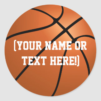 Personalized Basketball Circle stickers