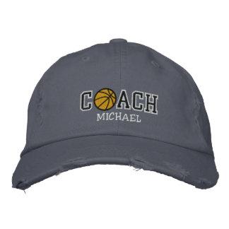 Personalized Basketball Coach Baseball Cap