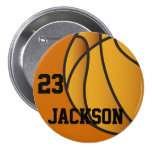 Personalized Basketball Design 3 Inch Round Button