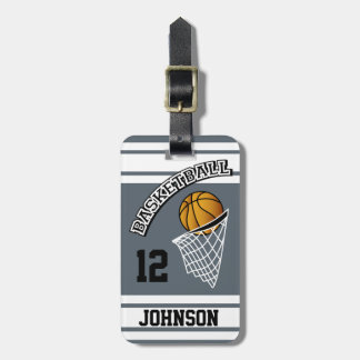 Personalized Basketball DIY Color Luggage Tag