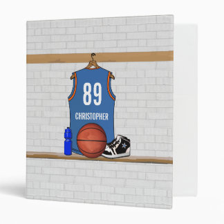 Personalized Basketball Jersey (LBO) Vinyl Binders