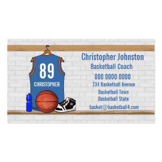 Personalized Basketball Jersey (LBO) Business Card Templates