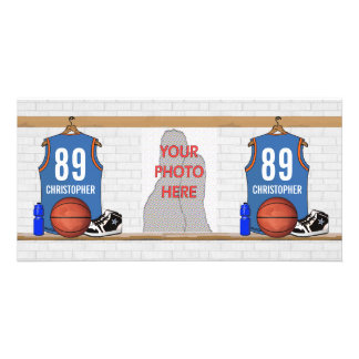 Personalized Basketball Jersey (LBO) Custom Photo Card