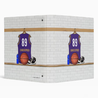 Personalized  Basketball Jersey (PG) 3 Ring Binders