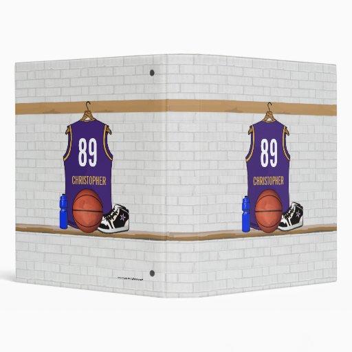 Personalized  Basketball Jersey (PG) Binder