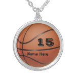 Personalized Basketball Jewellery NAME and NUMBER Pendant