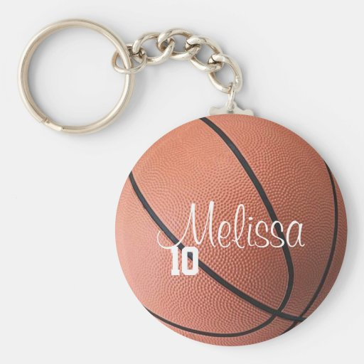 Personalized Basketball Keychain
