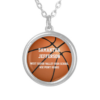 Personalized Basketball Name Number Sports Pendant