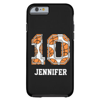 Personalized Basketball Number 10 Tough iPhone 6 Case