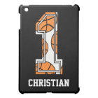 Personalized Basketball Number 1 iPad Mini Cover