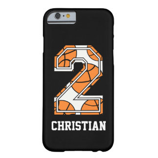 Personalized Basketball Number 2 Barely There iPhone 6 Case