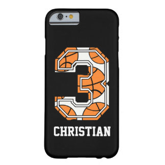 Personalized Basketball Number 3 Barely There iPhone 6 Case