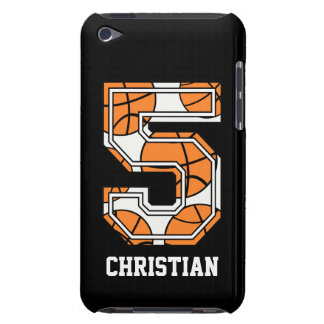 Personalized Basketball Number 5 Barely There iPod Cover