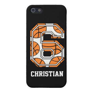 Personalized Basketball Number 6 iPhone 5/5S Case