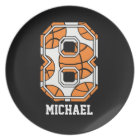 Personalized Basketball Number 8 Plate