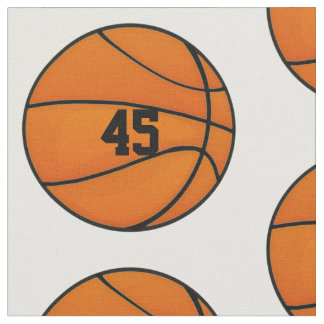 Personalized Basketball Number Monogram Fabric