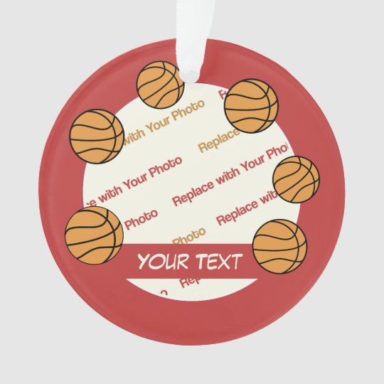 Personalized Basketball Photo and Text - 2 sided