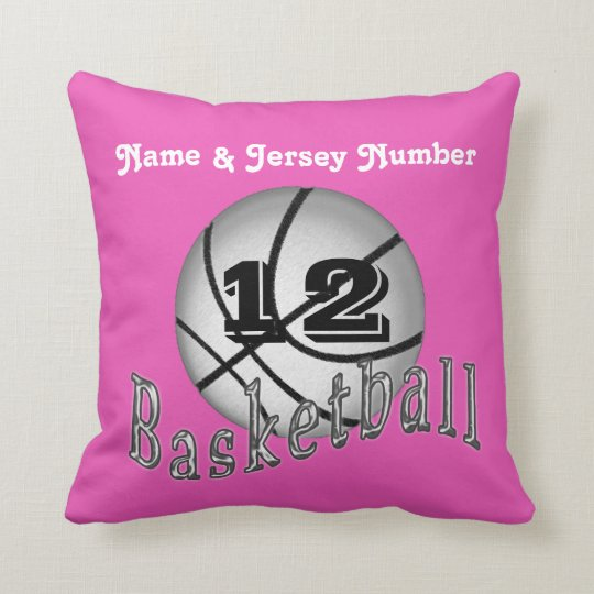 Personalized Basketball Pillows w/ NAME and NUMBER