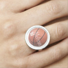 Personalized Basketball Ring
