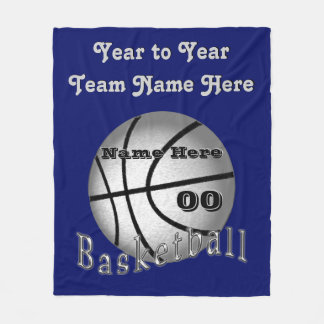 Personalized Basketball Senior Night Gifts Blanket