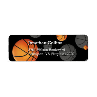 Personalized Basketball   Sport Return Address Label