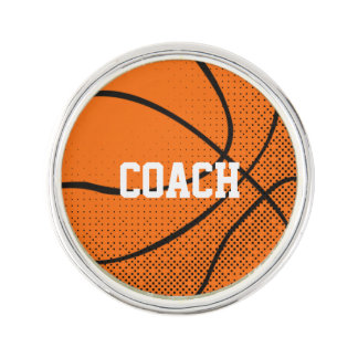 Personalized Basketball Tack Lapel Pin