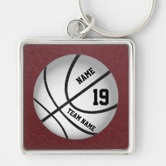 Personalized Basketball Team Gift Ideas Keychain