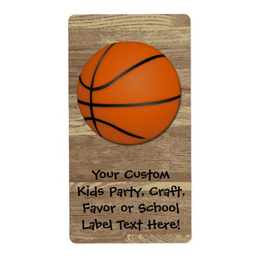 Personalized Basketball Wood Floor