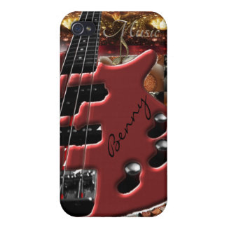 Personalized Bass Guitar Music iPhone Case iPhone 4/4S Cover