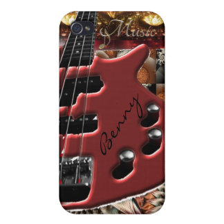 Personalized Bass Guitar Music iPhone Case iPhone 4 Covers