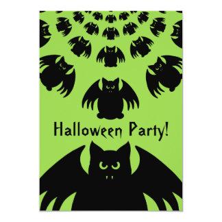 "Personalized bat Halloween 5"" X 7"" Invitation Card"