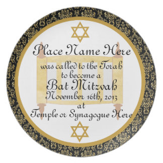 Personalized Bat Mitzvah Keepsake Plate Plaque