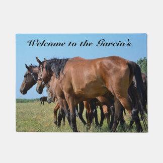 Personalized Bay Horse Door Mat