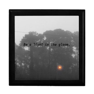 """Personalized """"Be a light in the gloom"""" Gift Box"""
