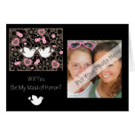 Personalized Be My Maid of Honour Photo Invitation
