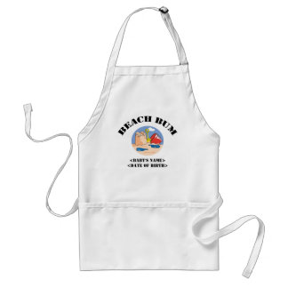 Personalized Beach Bum New Baby Gift Standard Apron
