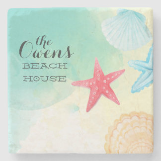 Personalized Beach House Coasters