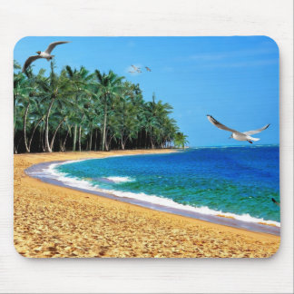Personalized Beach Palm Tree Tropical Mouse Pad