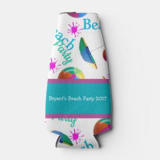 Personalized Beach Party Bottle Bottle Cooler