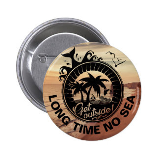 Personalized Beach Quote Motivational or Location 2 Inch Round Button