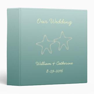Personalized Beach Starfish Wedding Binder Gift